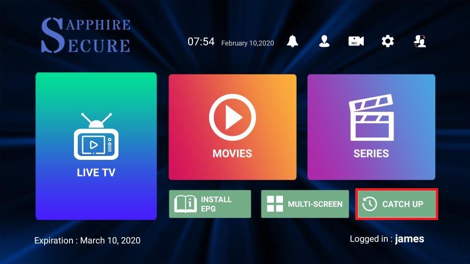 Sapphire Secure IPTV on FireStick