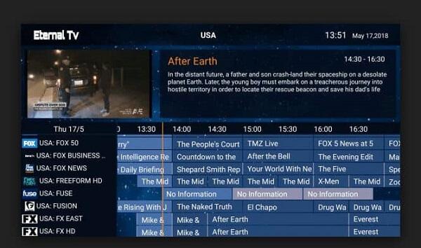 Eternal TV IPTV on FireStick