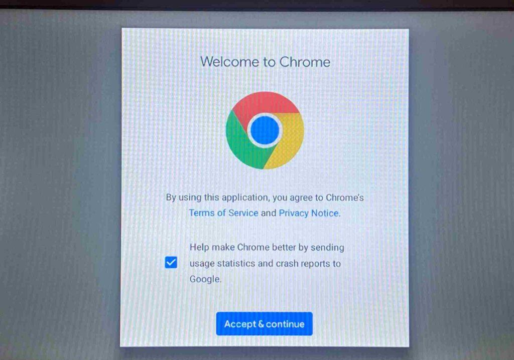 Google chrome on firestick