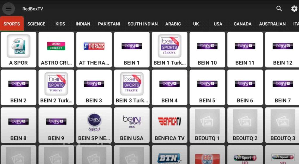 Redbox TV APK on firestick