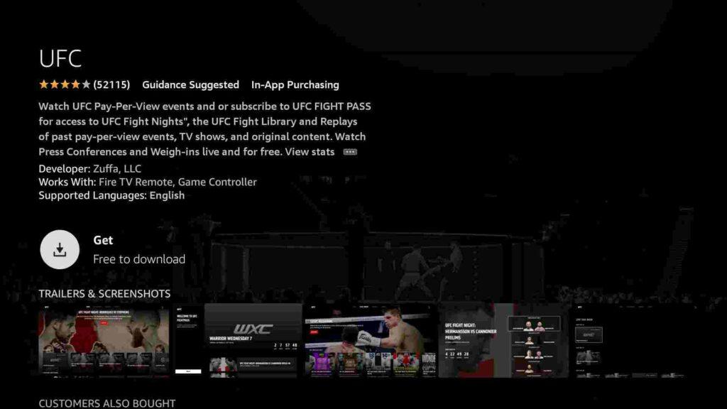 UFC on firestick